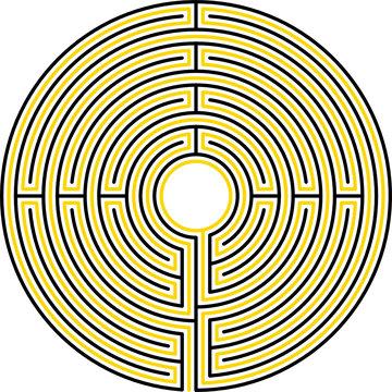 Chartres, maze, 11 circuits