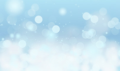 Blue background blur with bokeh effect,holiday wallpaper