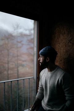 Man in cabin