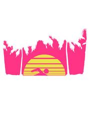 urlaub palmen insel strand meer ferien wasser wellen cool logo design piktogramm baden schwimmbad sport spaß tauchen hallenbad clipart schwimmer