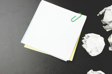 small paper on the desktop