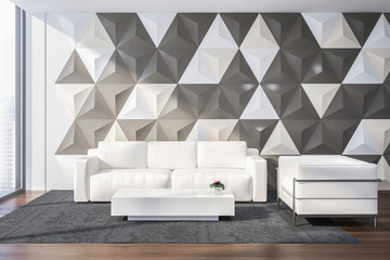 White and gray office waiting room