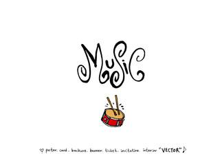 음악회 포스터 / 손으로 그린 음악 일러스트