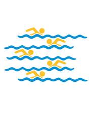 logo bahnen schwimmen wasser meer urlaub ferien wellen cool design piktogramm baden schwimmbad sport spaß tauchen hallenbad clipart schwimmer