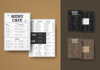 Type-Based Restaurant Menu Layout