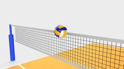バレーボール ネットとボール