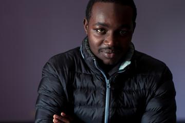 Smart african man wearing a jacket