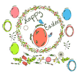 Traditional greeting card for Happy Easter. Festive mood light Easter.