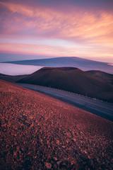 Poster Crimson Mauna Kea Sunsets