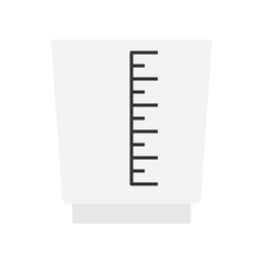 Measuring cup vector, coffee related flat style icon