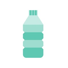 Water bottle vector, coffee related flat style icon