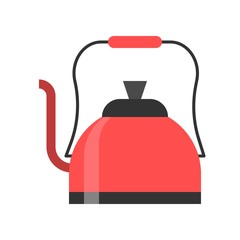 Kettle vector, coffee related flat style icon