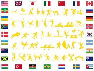東京オリンピックの競技一覧のアイコンセット