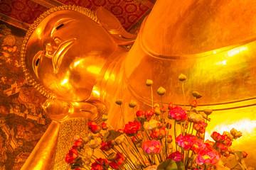 grand bouddha couché, temple de Wat Pho, Bangkok, Thaïlande