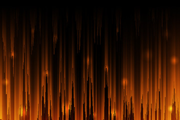 shiny orange gradient color abstract background
