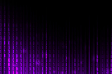 purple gradient color with binary code, technology background