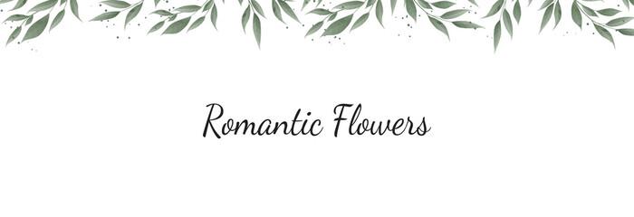 Horisontal botanical vector design banner. Pink rose, eucalyptus, succulents, flowers, greenery. Natural spring card or frame.