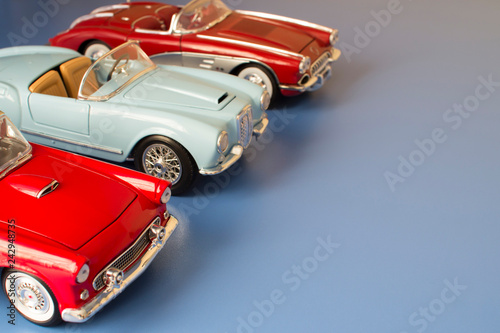 Collection scale models of retro cars  Classic cars  Rarity toy
