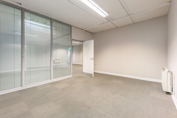 Empty old office room