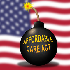 Repeal Aca Affordable Care Act Healthcare - 3d Illustration