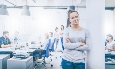 New start up business concept. Portrait of confident woman.