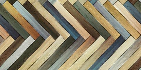 Seamless wood parquet texture horizontal herringbone colorful