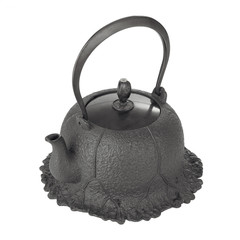 traditional black iron kettle or pot