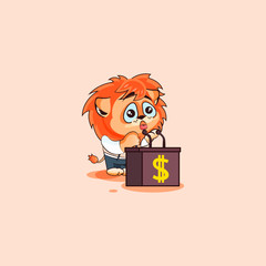 lion sticker emoticon orator speaker