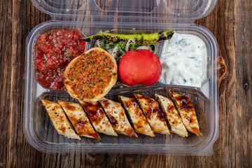 Traditional Turkish Cuisine Beyti Kebab