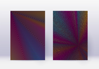 Cover design template set. Abstract lines modern b