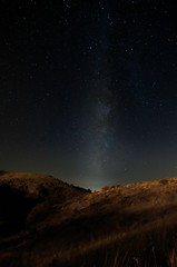 milky way in mountains