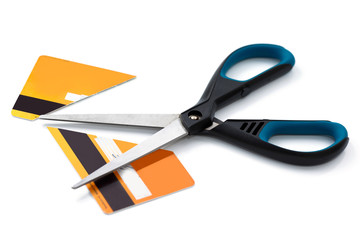 Scissors and cut credit card