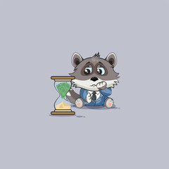 wolf sits at hourglass money goes as sand