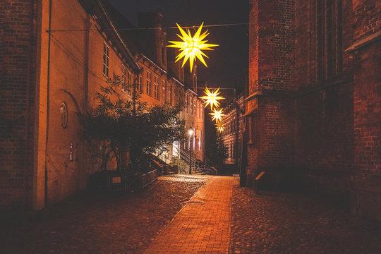 Weihnachtsbeleuchtung in den Lübecker Strassen
