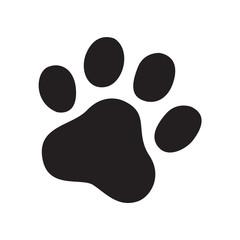 dog paw vector footprint icon logo cat french bulldog symbol cartoon sign illustration doodle graphic