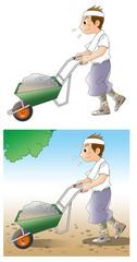 土砂を運ぶ