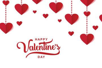 Happy Valentine's day luxury elegant design with heart decoration