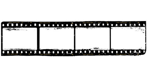 frames of film, grungy photo frames,with free copy space,vector