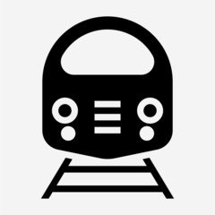Glyph railway pixel perfect vector icon