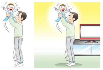親子、育児