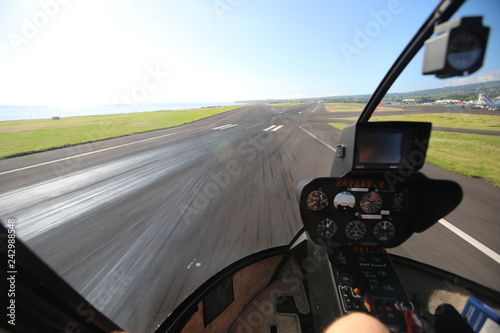 View from the inside of the helicopter landing strip