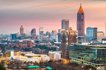 Fotomurales - Atlanta, Georgia, USA downtown skyline.