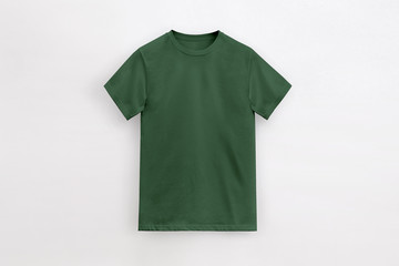 Solid Basic T-Shirt bottle green Man unbranded