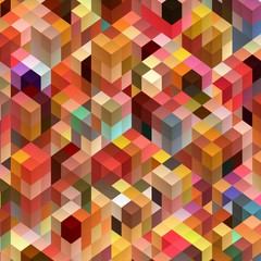 multicolor background. polygonal style. vector image, abstract cube background
