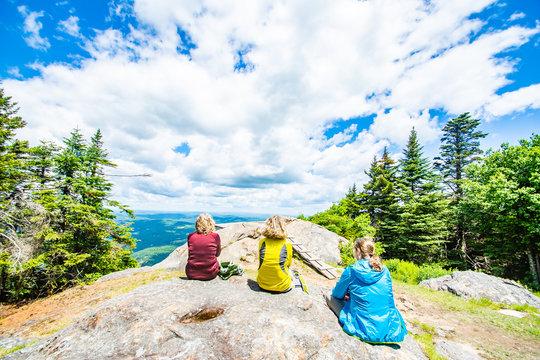 beautiful mountain lookout