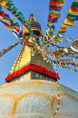 Foto auf AluDibond Denkmal Bodhanath Stupa in Kathmandu valley, Nepal