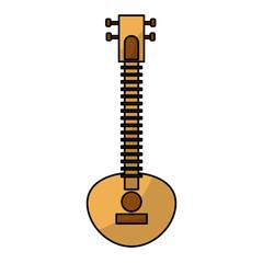 Sitar indian music instrument