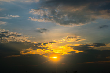 Sunset Sky Background in summer