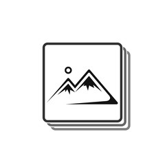 Picture frame icon on a white background in flat style