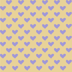 seamless pattern of colored hearts for decoration